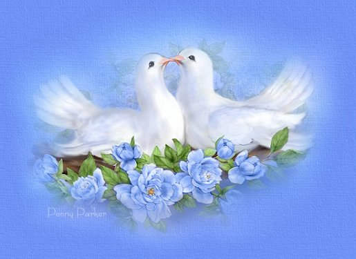 JUST LIKE DOVES YOUR LOVE GIVES ME PEACE.